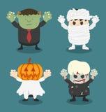 Illustration von Halloween, Front stellte 2 ein Lizenzfreie Stockbilder