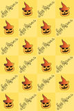 Illustration von Halloween Zeichnen mit Kürbisen Nahtloses Muster Frohe Feiertage Stockfotografie