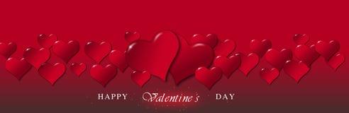 Illustration von Herzen während eines Valentinstags lizenzfreie abbildung
