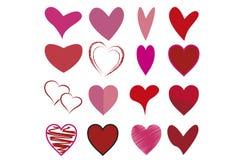 Illustration von Herzmodellen für Valentinstag stockfotografie