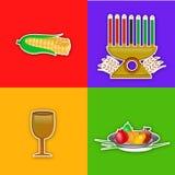 Illustration von Kwanzaa-Hintergrund Stockfotografie