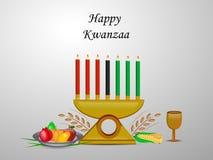 Illustration von Kwanzaa-Hintergrund Stockbild