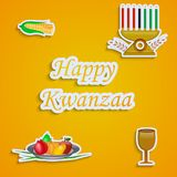 Illustration von Kwanzaa-Hintergrund Lizenzfreies Stockfoto