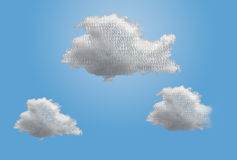 Illustration von mehrfachen Datenverarbeitungswolken Lizenzfreie Stockfotos