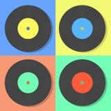 Illustration von multi farbigen Scheiben des Vektors Vinyl vektor abbildung