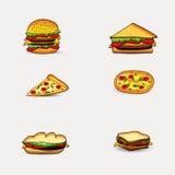 Illustration von Nahrungsmitteln Stockfoto