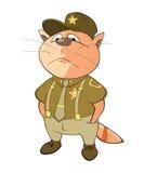 Illustration von netten Cat Special Forces Cartoon Character Lizenzfreie Stockfotografie
