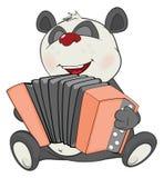 Illustration von netten Panda Accordionist Cartoon Character lizenzfreie abbildung