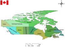 Illustration von Provinzen und Gebiete von Kanada stockbilder