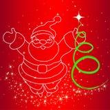Illustration von Santa Claus Lizenzfreie Abbildung