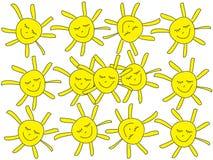 Illustration von Sonnen Stockfoto