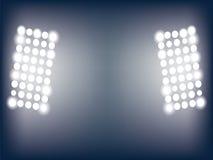 Illustration von Stadionslichtern Lizenzfreie Stockfotos