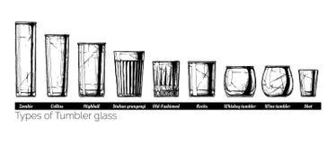 Illustration von Trommelglasarten stock abbildung