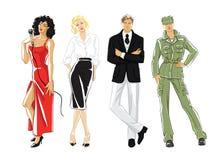 Illustration von verschiedenen Berufleuten Lizenzfreie Stockbilder