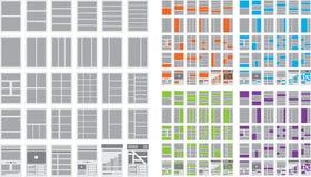 Illustration von Website-Flussdiagrammen und Sitemaps Lizenzfreies Stockfoto