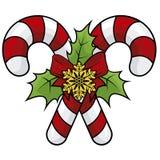 Illustration von Weihnachtsbonbons lizenzfreie abbildung