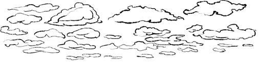 Illustration von Wolken Lizenzfreie Stockfotografie