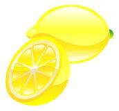 Illustration von Zitronenfrucht-Ikone clipart Lizenzfreies Stockfoto