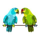 Illustration von zwei Papageien lizenzfreie abbildung