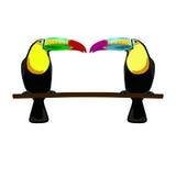 Illustration von zwei Tukanen stock abbildung