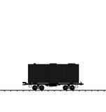 Illustration wagon cargo railroad train Royalty Free Stock Images