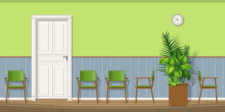 Illustration of a waiting room Stock Photo