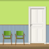 Illustration of a waiting room Royalty Free Stock Image
