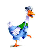 Illustration walking goose Royalty Free Stock Image