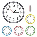 Illustration of complete clock with hands vector illustration