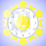 Illustration of wall clock with a second minute and hour hands Stock Images