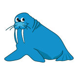 Illustration of walrus Stock Photos