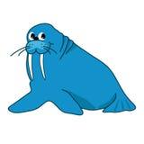 Illustration of walrus Stock Photos