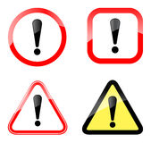 Warning sign. Illustration of warning sign on white background vector illustration
