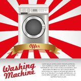 Illustration of a washing machine Stock Images