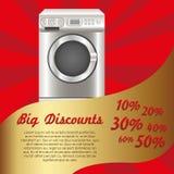 Illustration of a washing machine Royalty Free Stock Photos