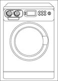 Illustration of a washing machine Royalty Free Stock Photography