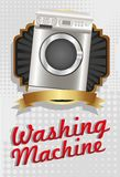 Illustration of a washing machine Royalty Free Stock Photo