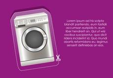 Illustration of a washing machine label Royalty Free Stock Photo