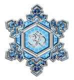 Water crystal gratitude - OM - Emoto vector illustration