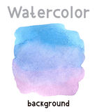 Illustration with watercolor background Stock Images