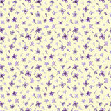 Illustration in watercolor of a Lilac flower. Floral card with flowers. Botanical illustration seamless pattern. Royalty Free Stock Photo