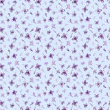 Illustration in watercolor of a Lilac flower. Floral card with flowers. Botanical illustration seamless pattern. Royalty Free Stock Image