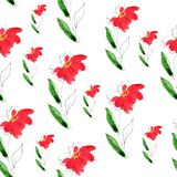 Illustration of watercolor pattern flower stock illustration