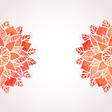Illustration with watercolor red lace pattern. Vector background Stock Image