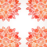 Illustration with watercolor red lace pattern. Vector background Stock Photos