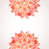 Illustration with watercolor red lace pattern. Vector background Stock Images