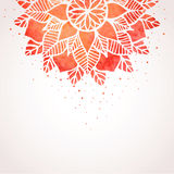 Illustration with watercolor red lace pattern. Vector background Royalty Free Stock Photos