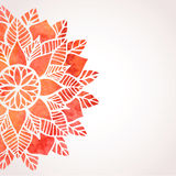 Illustration with watercolor red lace pattern. Vector background vector illustration