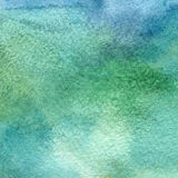 Illustration of a watercolor texture of blue and green colors. Watercolor abstract background, blots, blur, fill, print, spray, ru Royalty Free Stock Photo