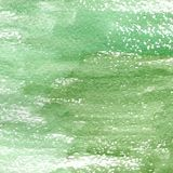 Illustration of a watercolor texture of different shades of green. Watercolor abstract background, blots, blur, fill, print, spray, rub vector illustration